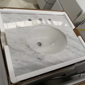 Natrual granite -prefab vanity top-Bianco carrara