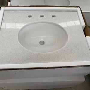 Natrual granite countertop -prefab vanity top-Crytal White,barthroom countertop,prebab countertop
