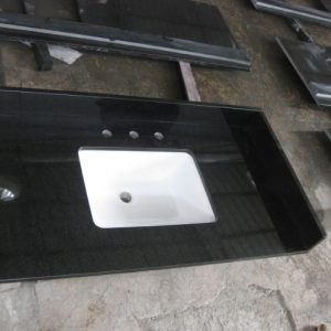 bathroom Countertop-hebeiBlack,Natrual granite prefab countertop