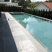 Ouming natrual stone-granite-Vanilla green-project-swimming pool