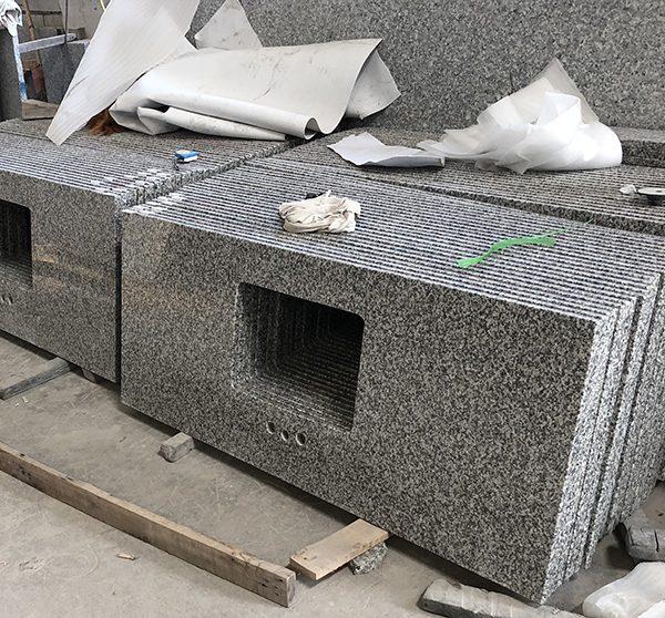 Natrual granite barthroom countertop-G623,G623 custom vanity top