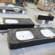Natrual granite -prefab vanity top-Black Galaxy,prefab countertop,barthroom countertop