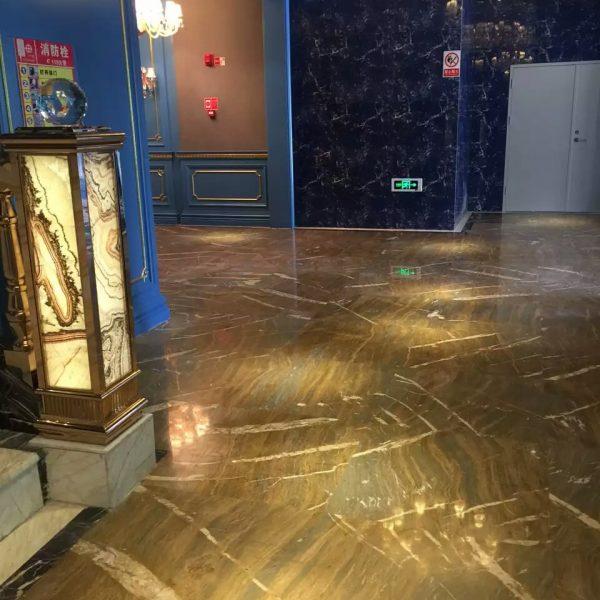 Ouming natrual marble-Golden Emerald-project-floor01