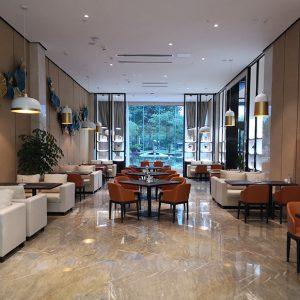 Ouming natrual marble-Golden Emerald-project-floor