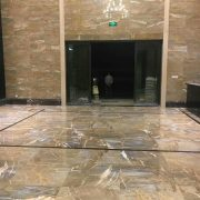 Ouming natrual marble-Golden Emerald-project-floor&wall