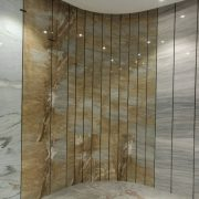 Ouming natrual marble-Golden Emerald-project-wall