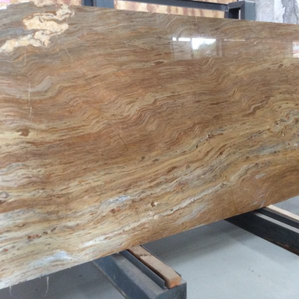 Ouming natrual marble-Golden Emerald-slab02