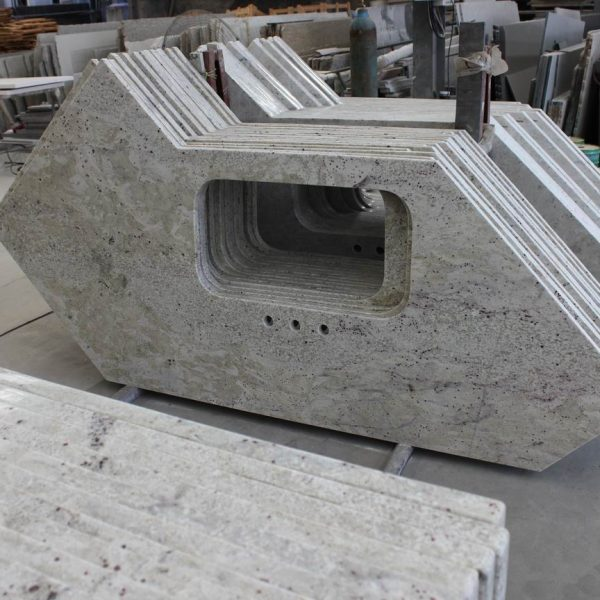 White Granite Countertop India New River White Ouming Stone
