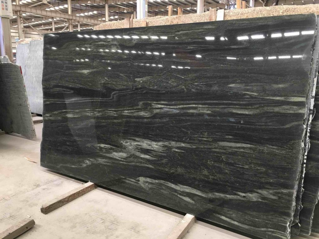 galaxy green granite slab